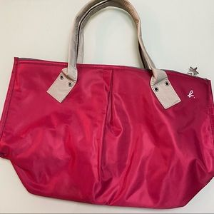 Agnes B tote bag in pink and gray